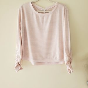 Victoria's Secret Long Sleeve Top Pink Size Small